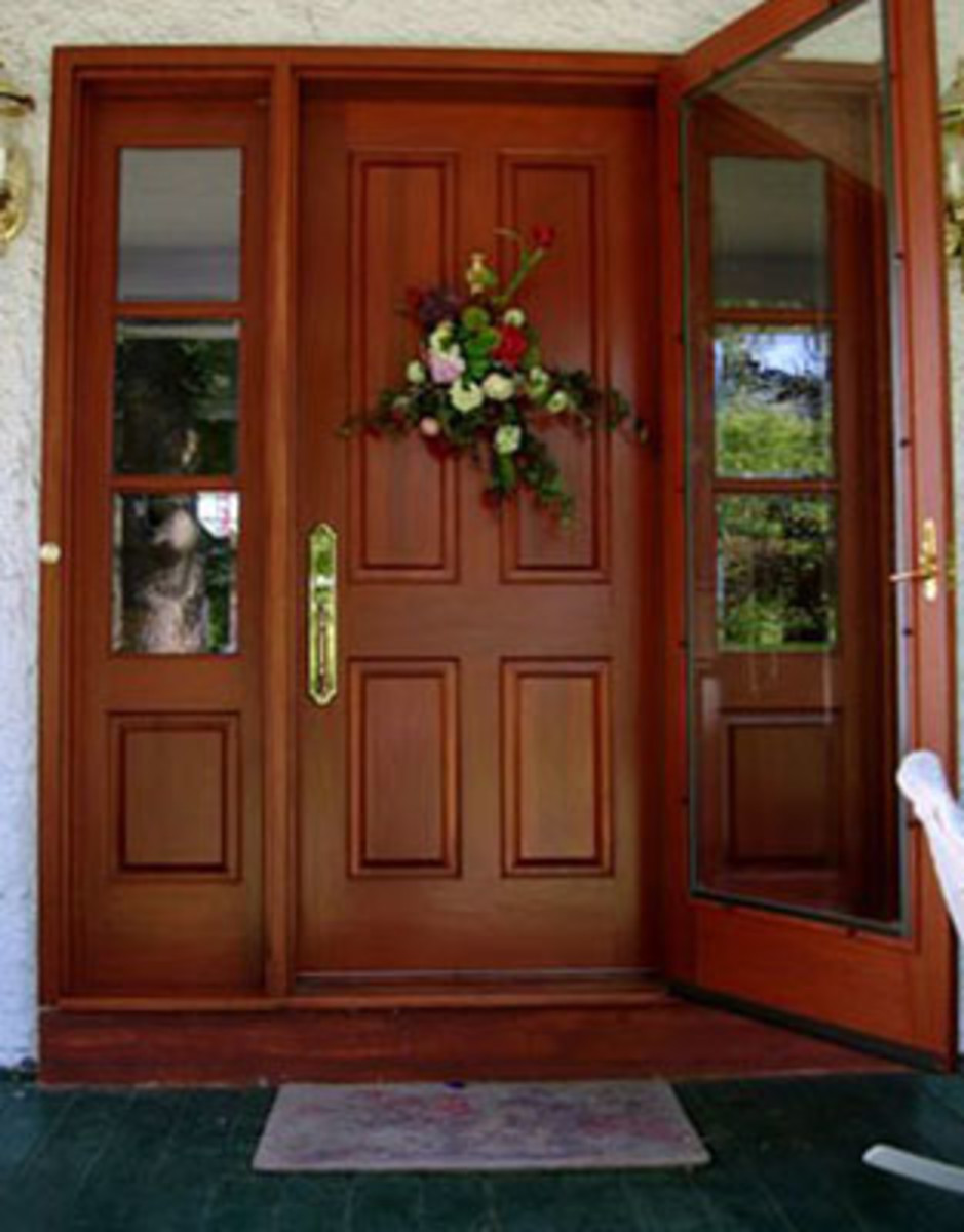 Honduran Mahogany Entrance Set vintagedoors.com