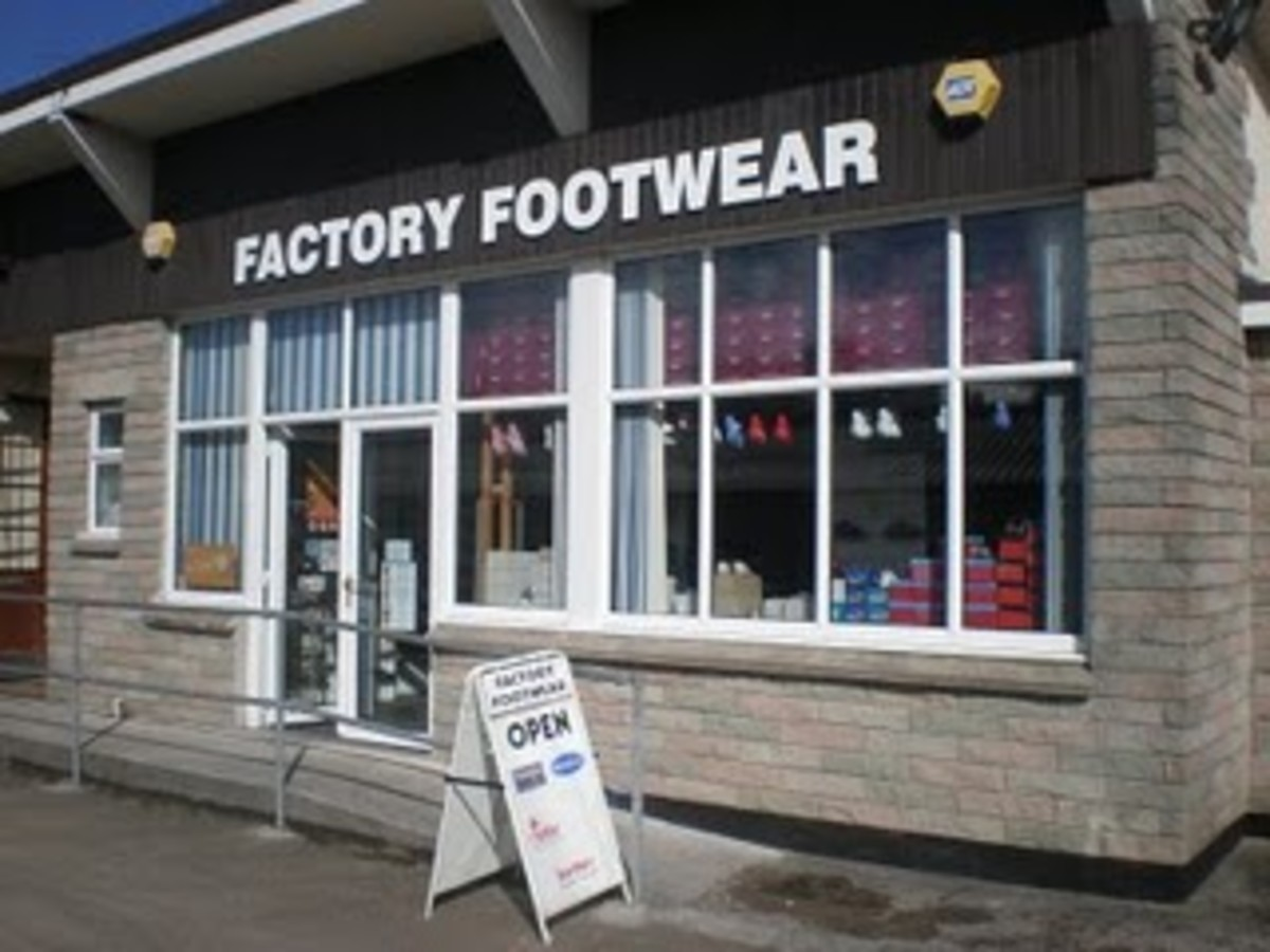 Factory Footwear, between Redruth and Portreath.