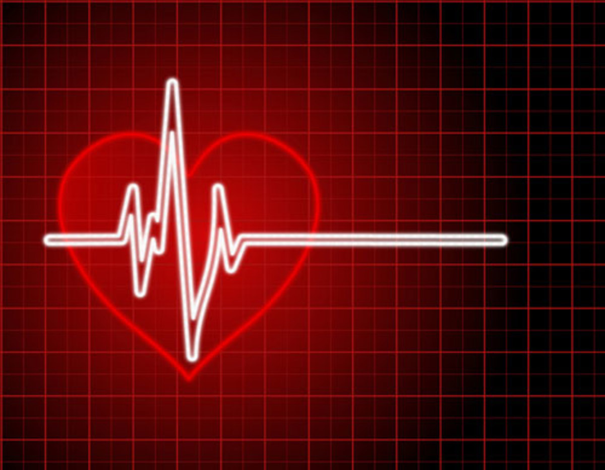 Heart Rate Clip Art in Red with White Heart Beat Lines