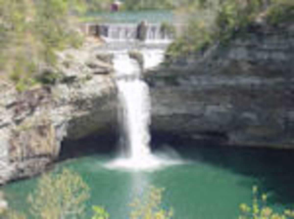 104 Feet of Rushing Water-Desoto Falls at Desoto State Park-Lookout Mountain