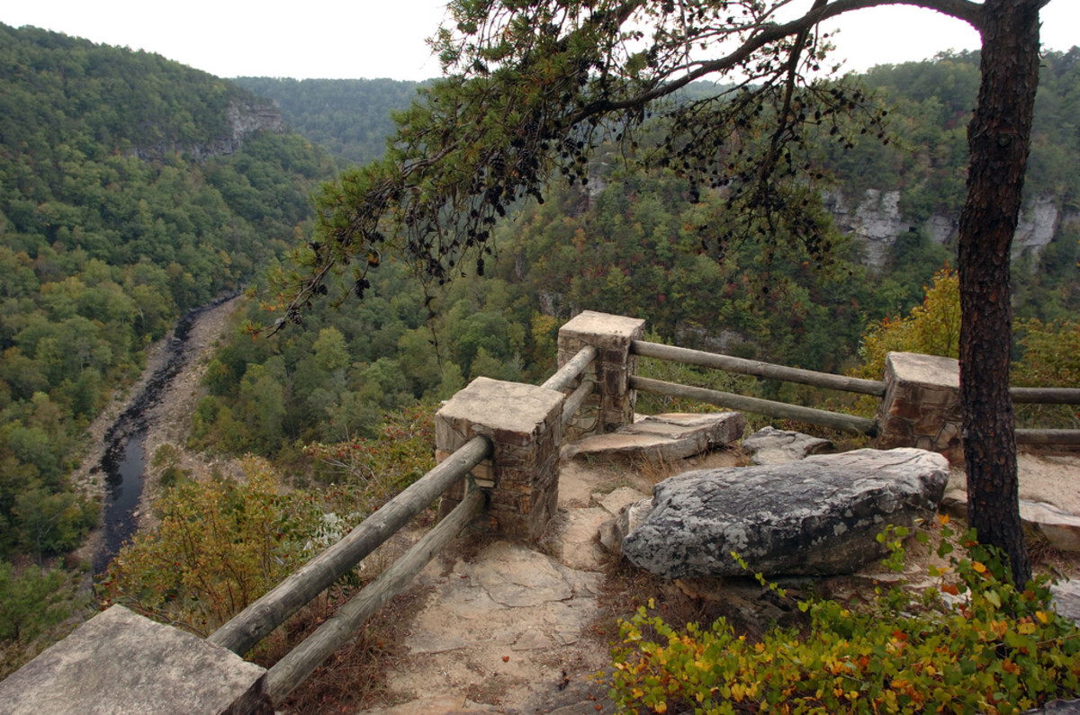 Overlook along the Canyon Rim of Little River Canyon