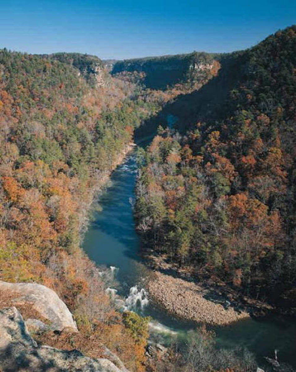 Fall View of Little River Canyon National Preserve Lookout Mountain Alabama