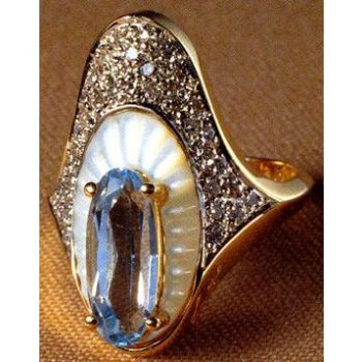 Erte Art Deco Ring