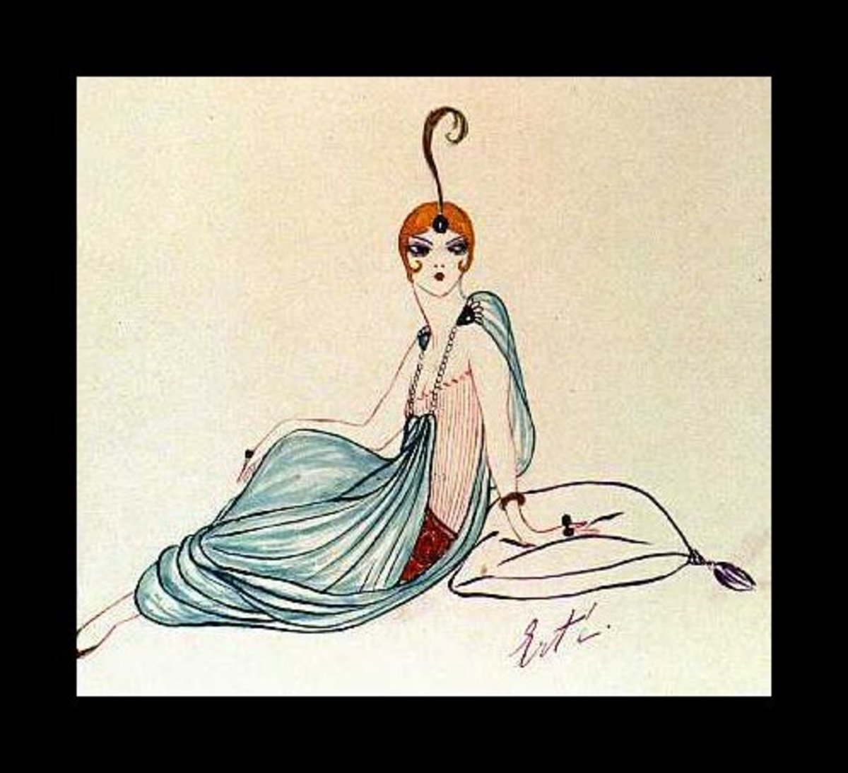 Erte Fashion Sketch