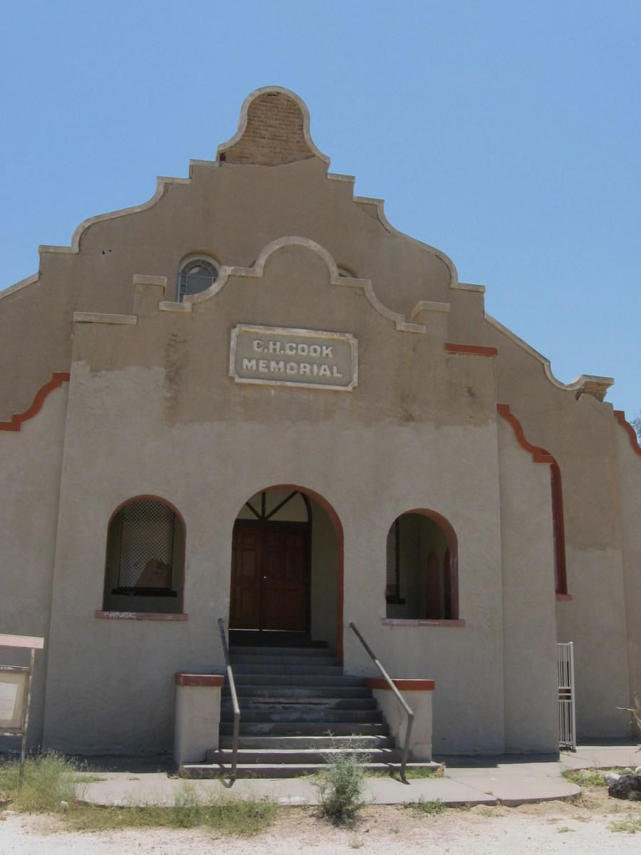 Historic Cook Church in Sacaton, AZ