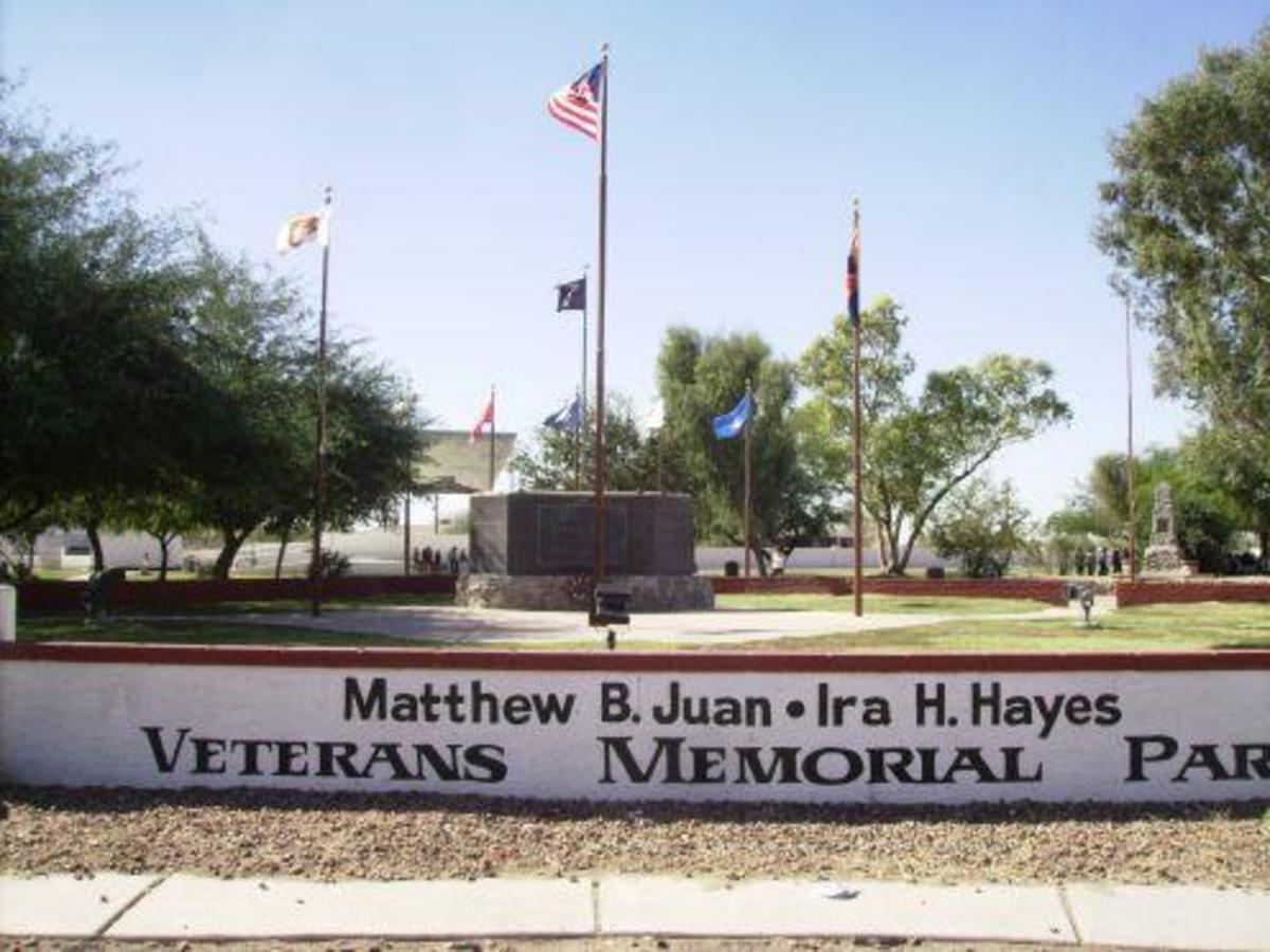 Matthew B Juan - Ira Hayes Veterans Memorial Park in Sacaton, Arizona