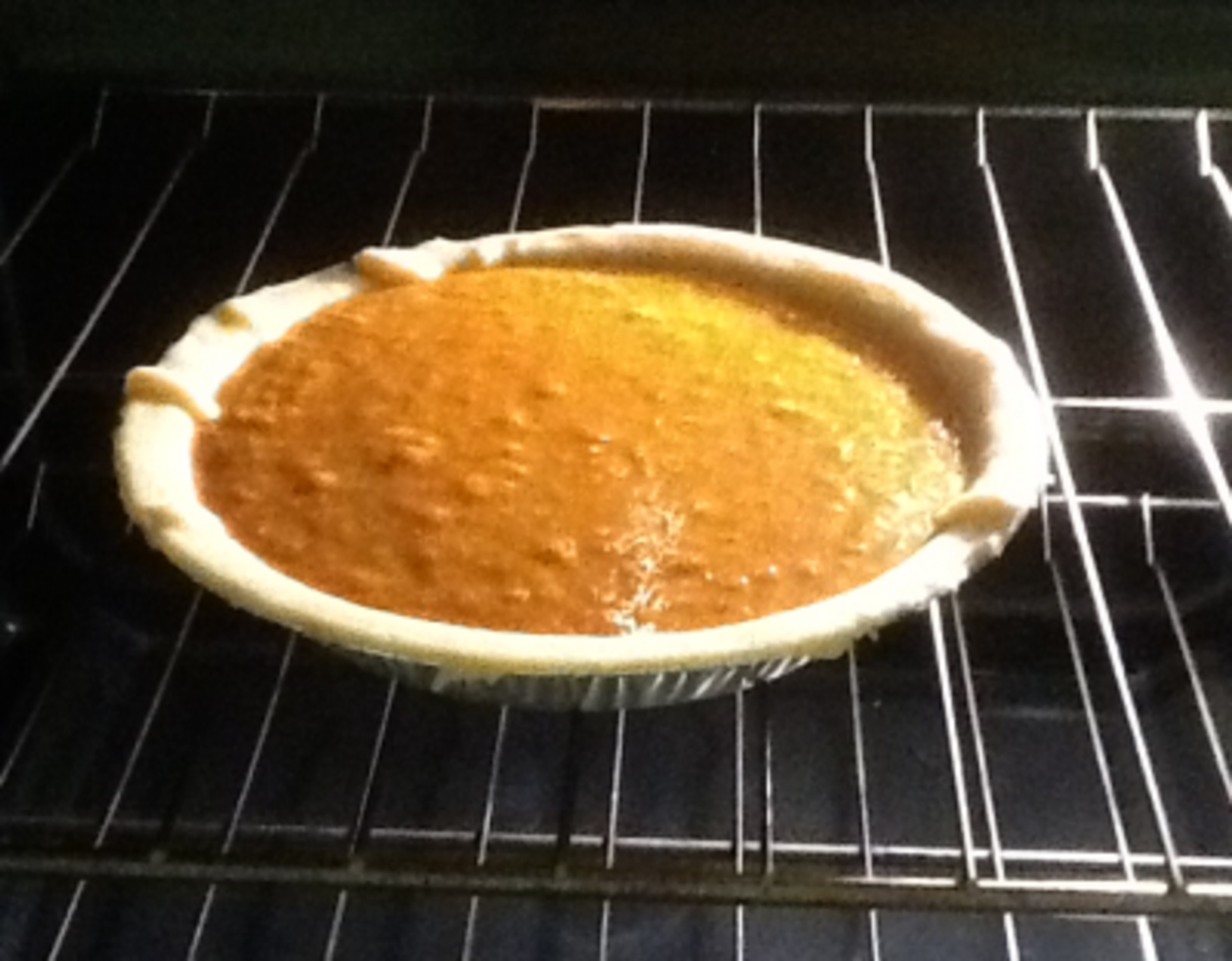 The pie when I first put it in the oven.