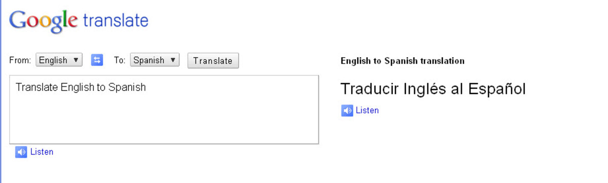GoogleTranslate translates Spanish to English as well as many other languages