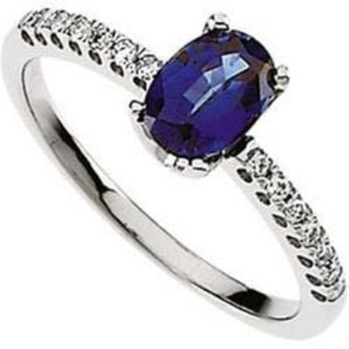 Oval solitaire sapphire engagement ring