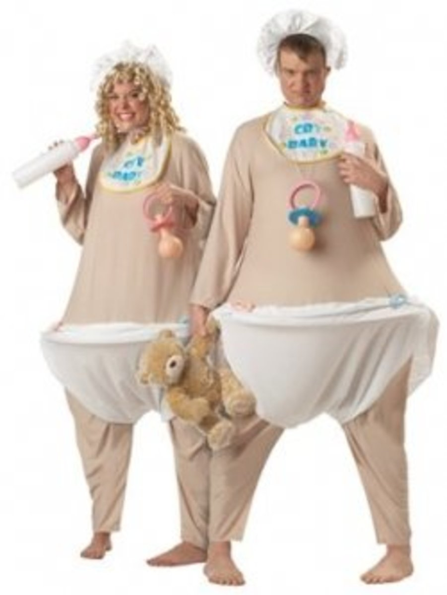 Prefer to buy your baby costume? That'll work, too, when you choose something hilarious like this one!