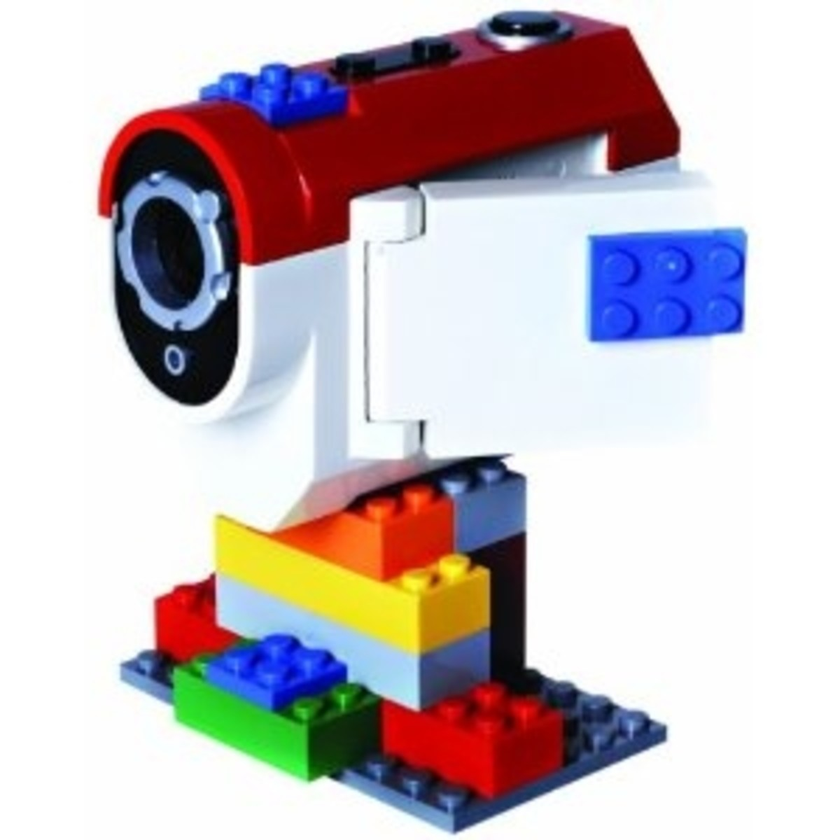 The Lego Video Camera, like the digital camera above has lots of places where lego bricks can be added.