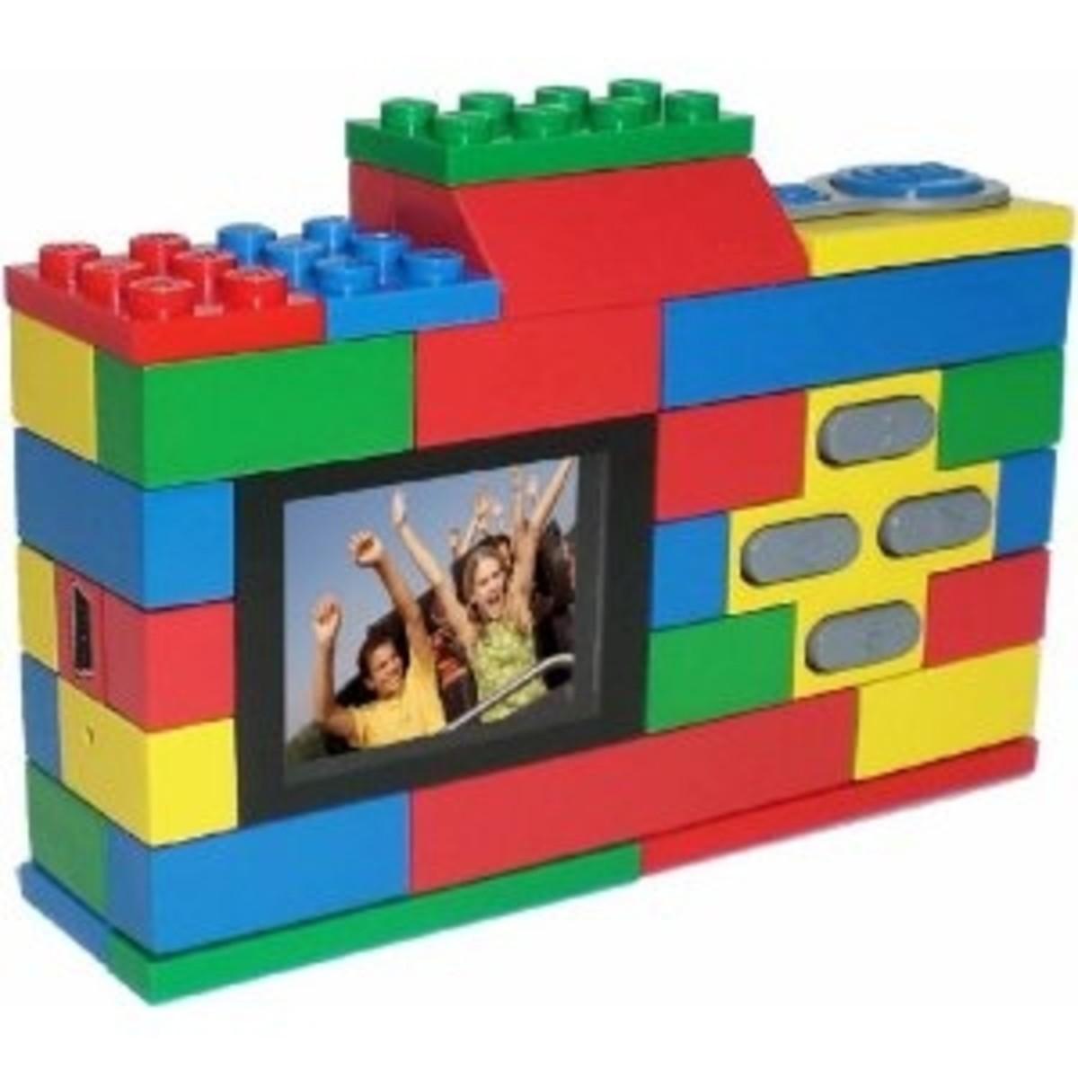 Lego digital camera rear view showing LCD screen