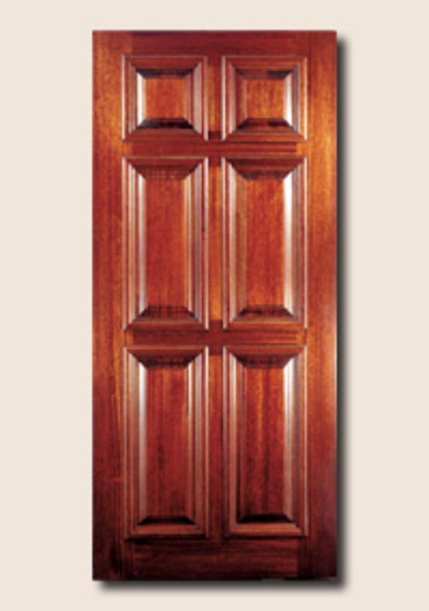 Mahogany raised panel entrance door for Front door manufacturers