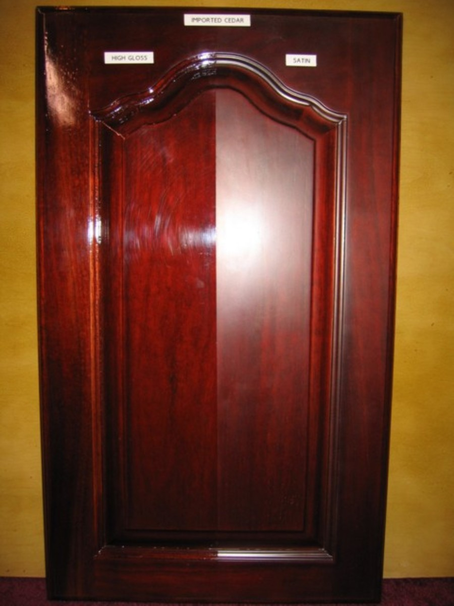 Glass and Satin Stained Spanish Cedar sdctx.com