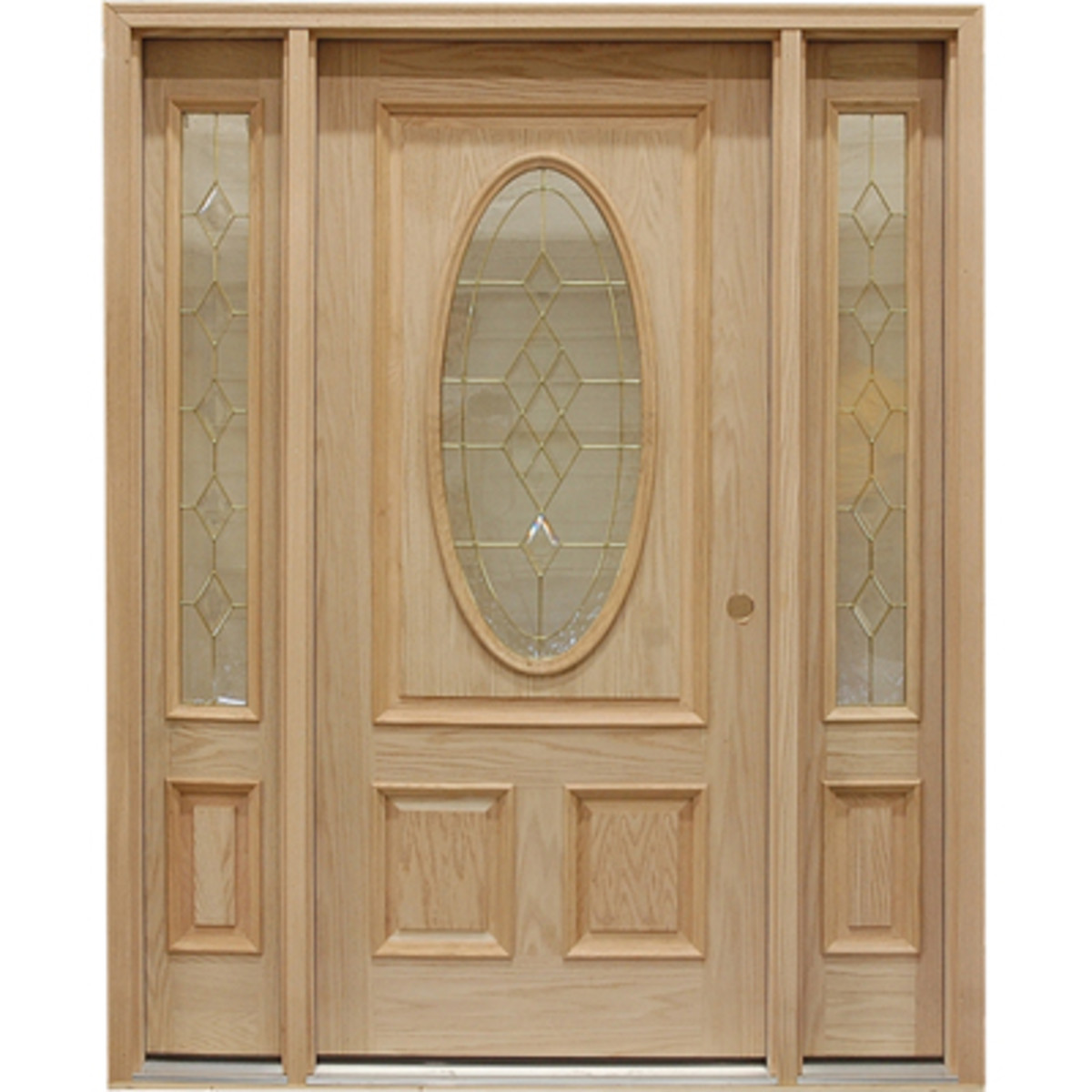 Oak Door with Twin Sidelights