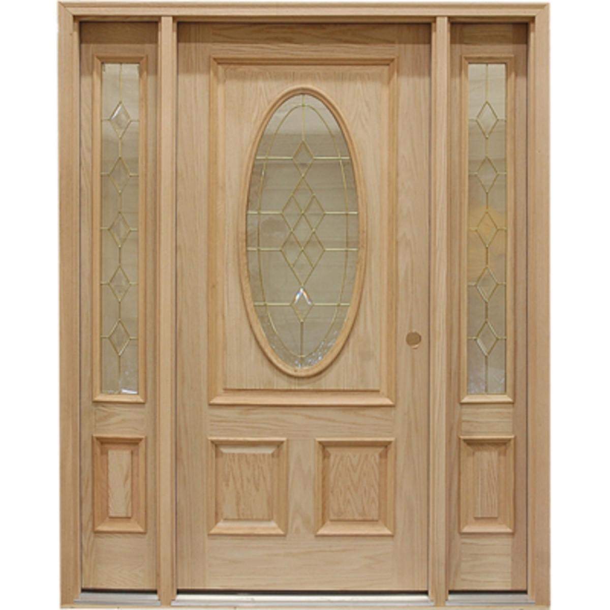 Oak Door with Twin Sidelights