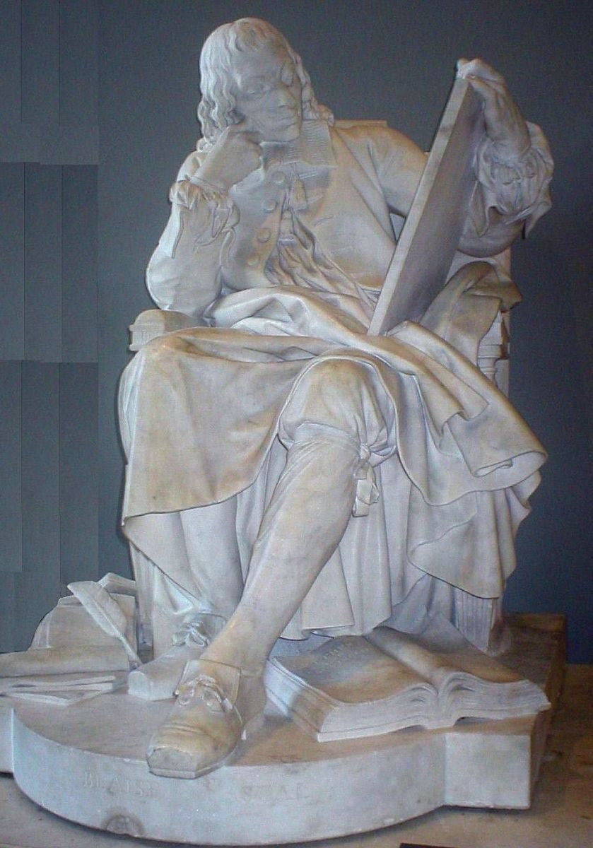 STATUE OF PASCAL IN THE LOUVRE