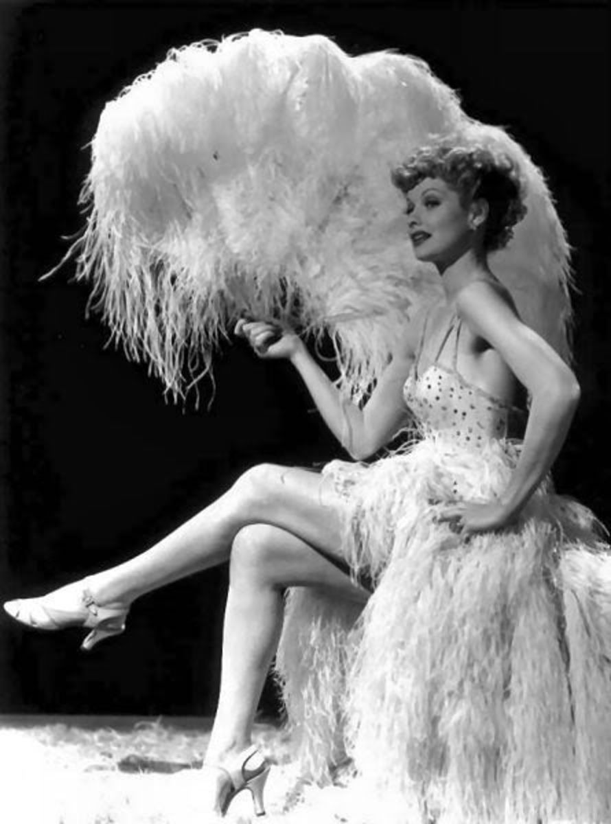 Lucille Ball started out as a Ziegfeld Girl.