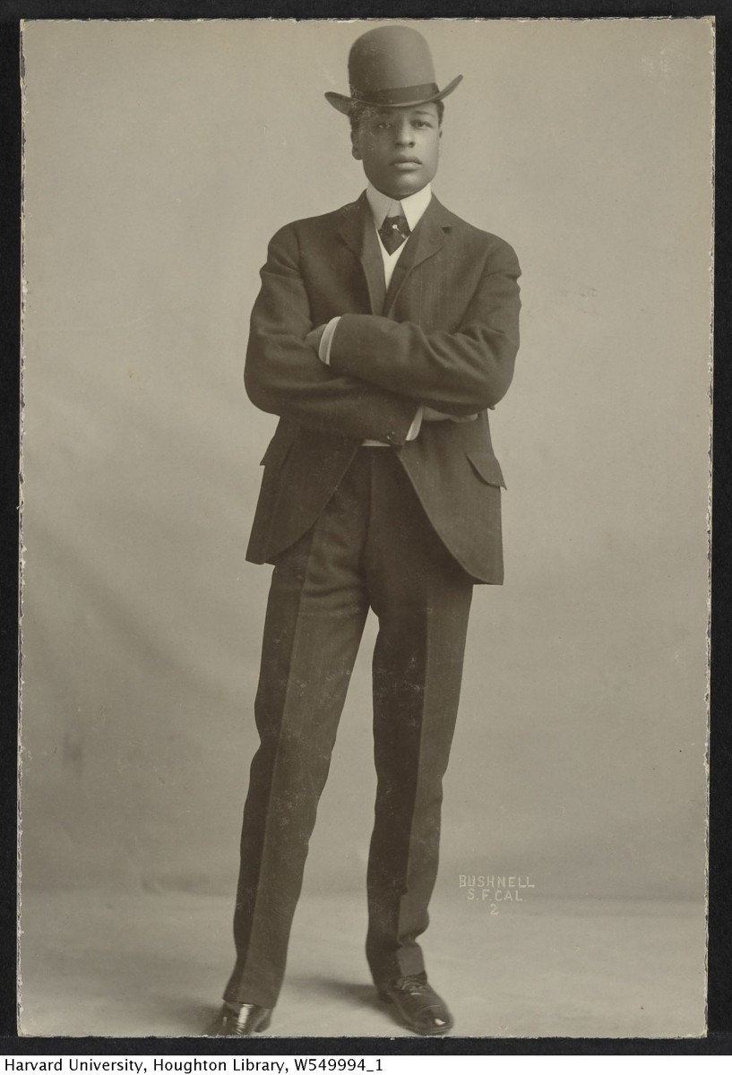 Bert Williams is famous for being the first black man to star on Broadway.  He was a sensation.