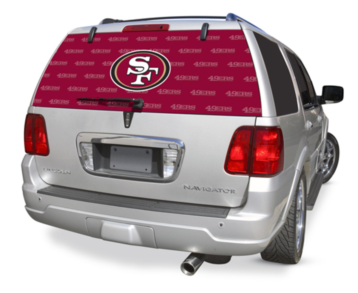 Decal for back window of truck in San francisco NFL Team Logo - Great Sports Themed Gift