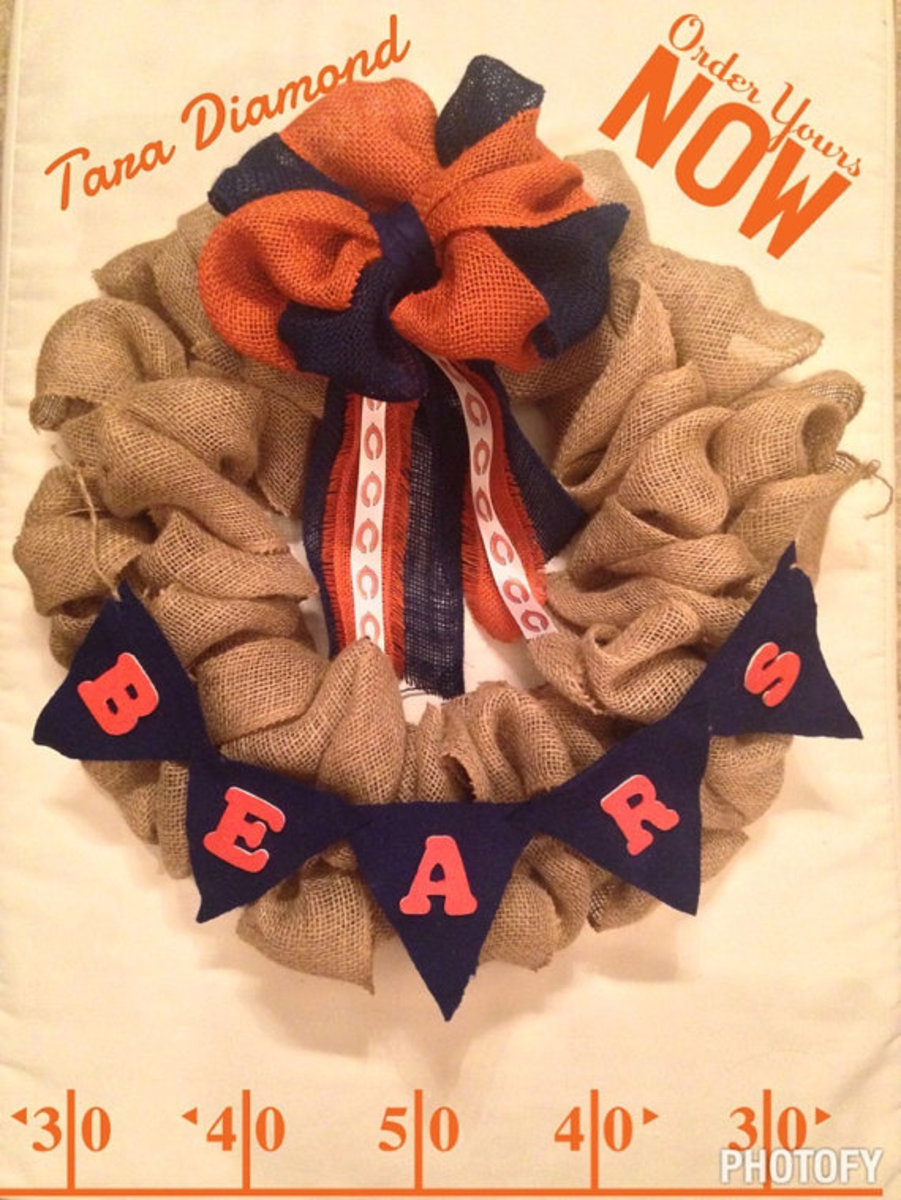 Bears wreath - hand crafted