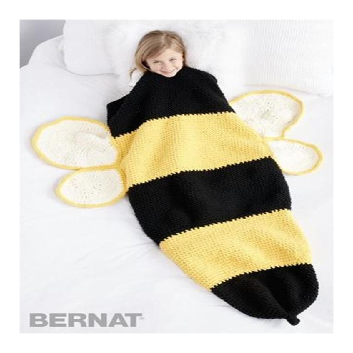 Bumble Bee Crochet Snuggle Sack