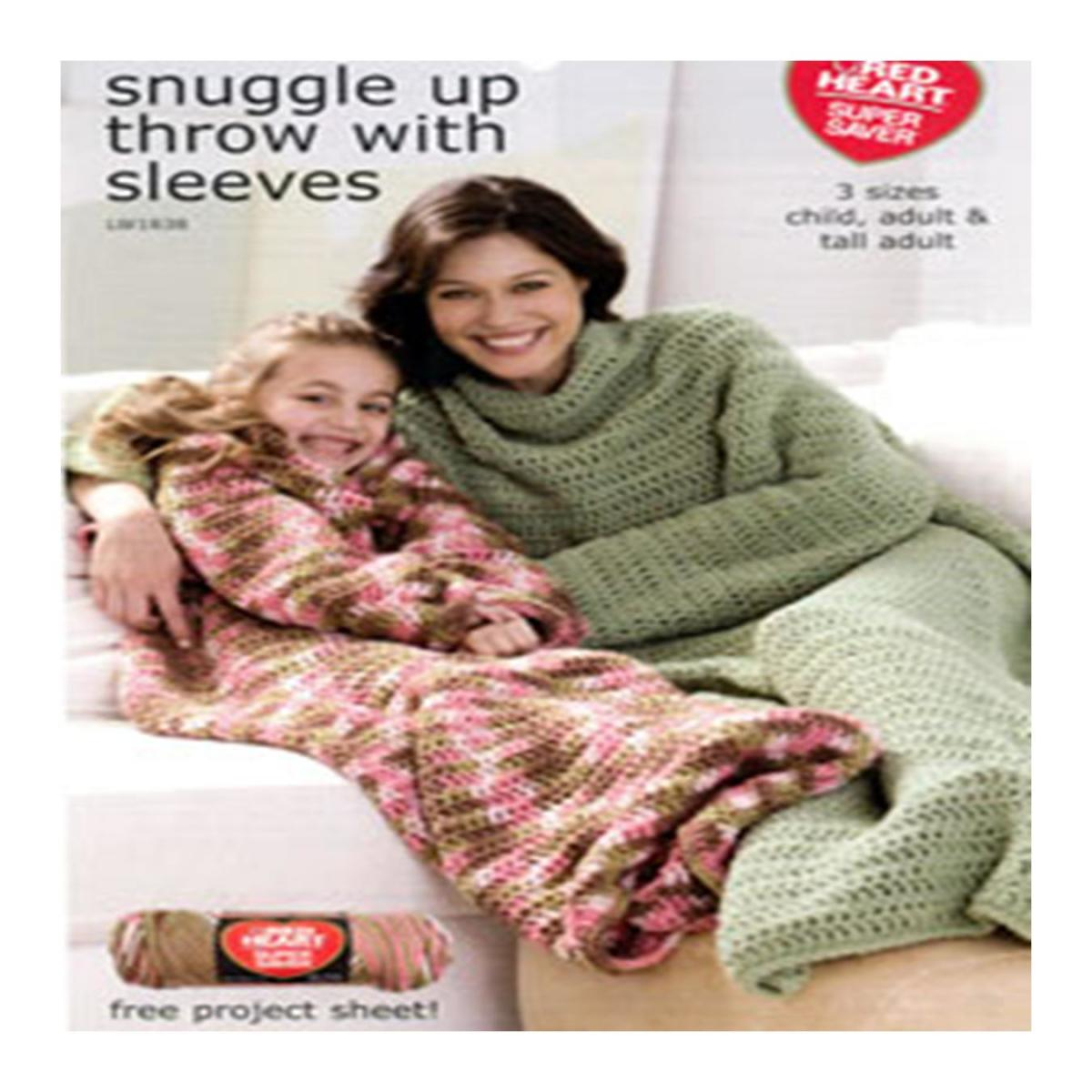 Snuggle up throw with sleeves
