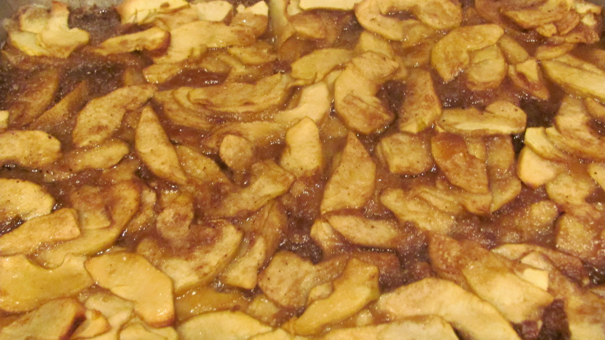 My Mouth Watering, Caramel Apple Crisp Recipe
