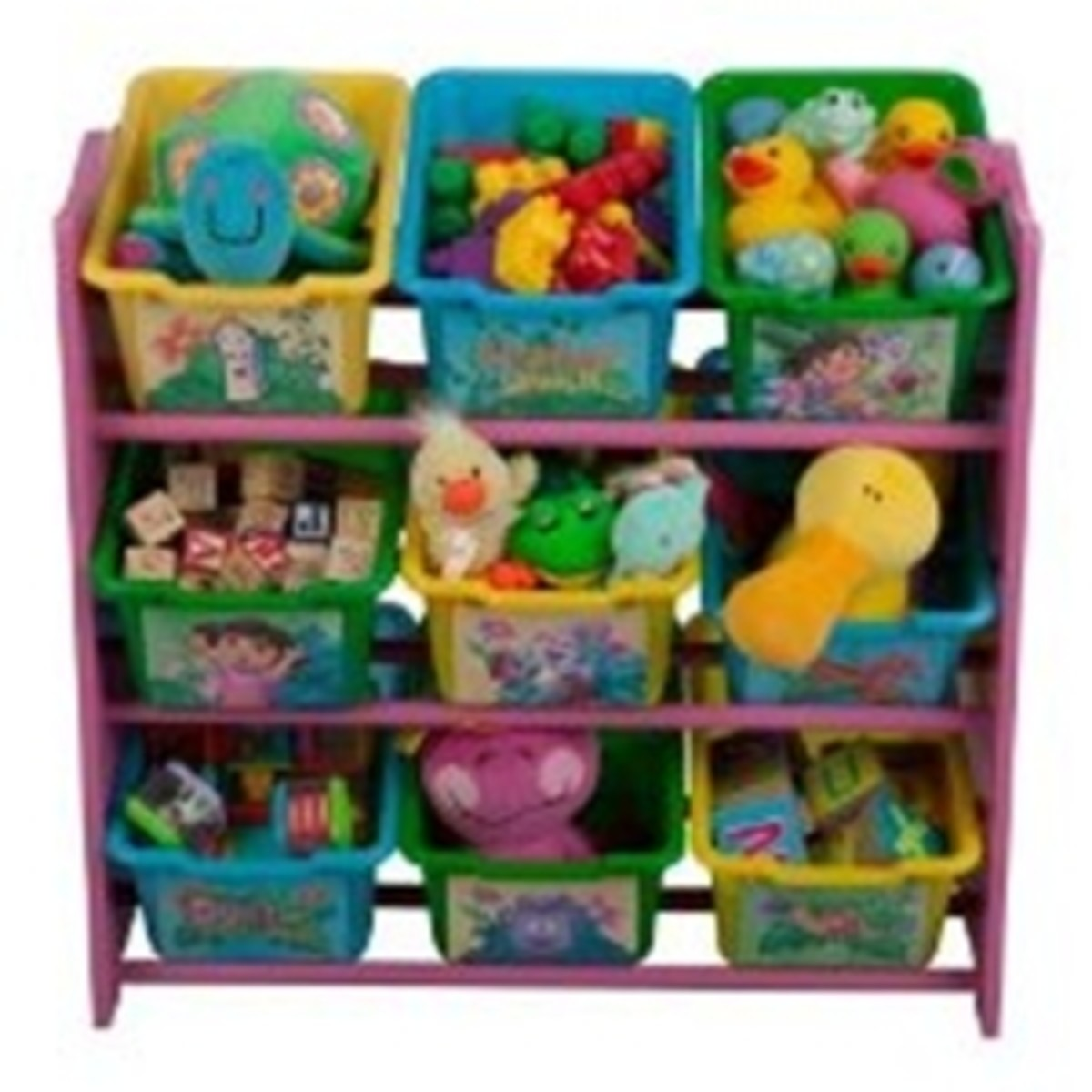 Dora The Explorer nine bin toy storage stacker to keep a little explorer's room neat and tidy!