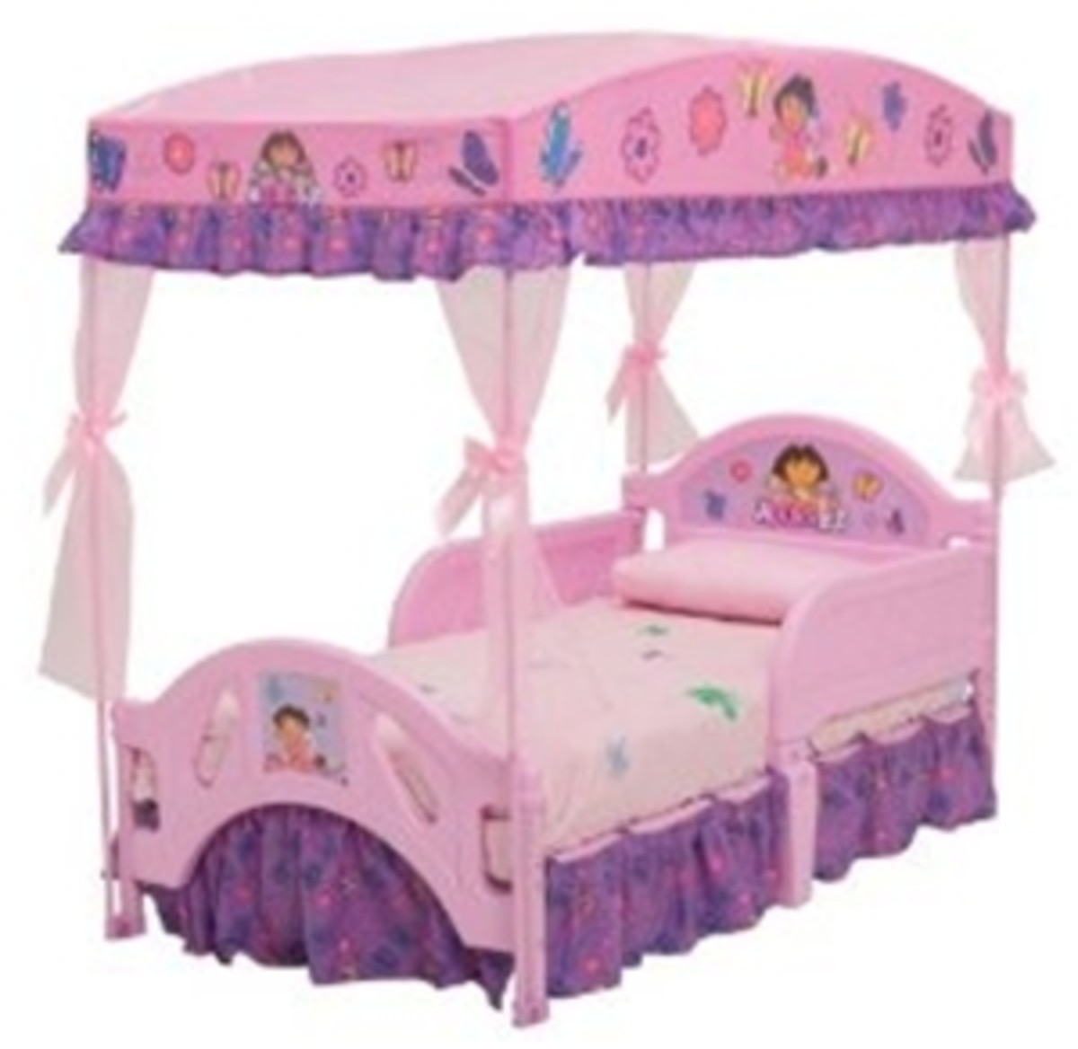 Dora Bed and Bedding - Little Girl Dora Canopy Toddler Bed