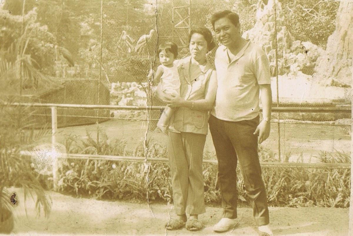 with my parents, the Giant Bird Cage then