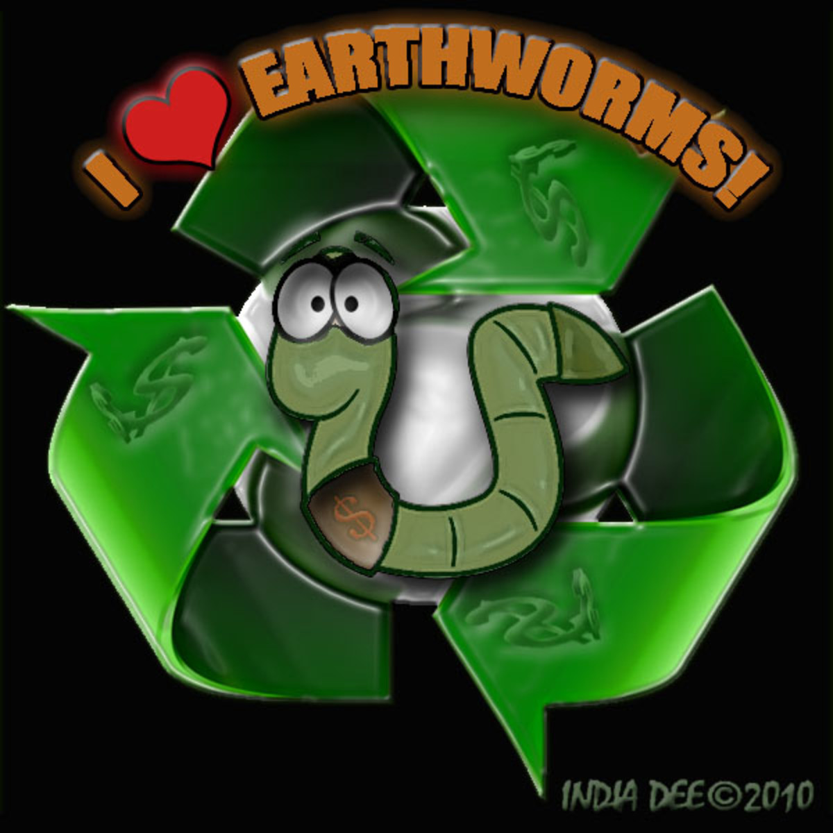 I Love Worms Graphic