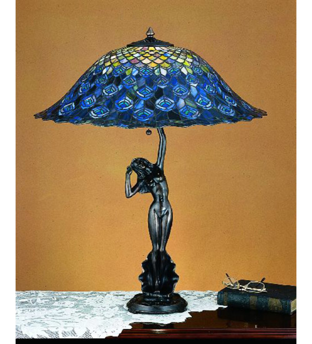 Tiffany Replica Peacock Lamp