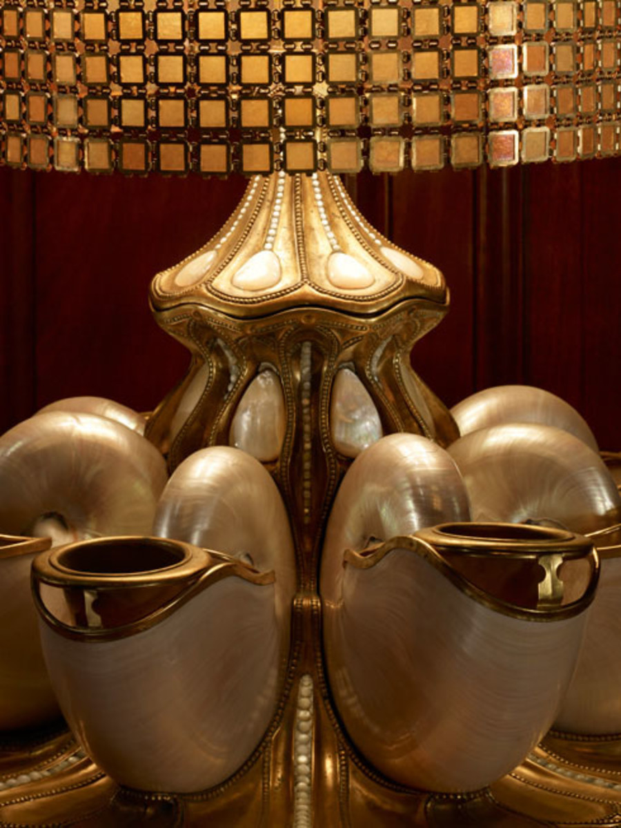 Nautilus Tiffany Lamp from the Driehaus Museum