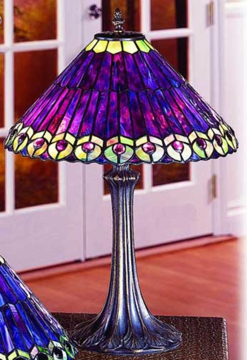 Purple Tiffany Replica Lamp