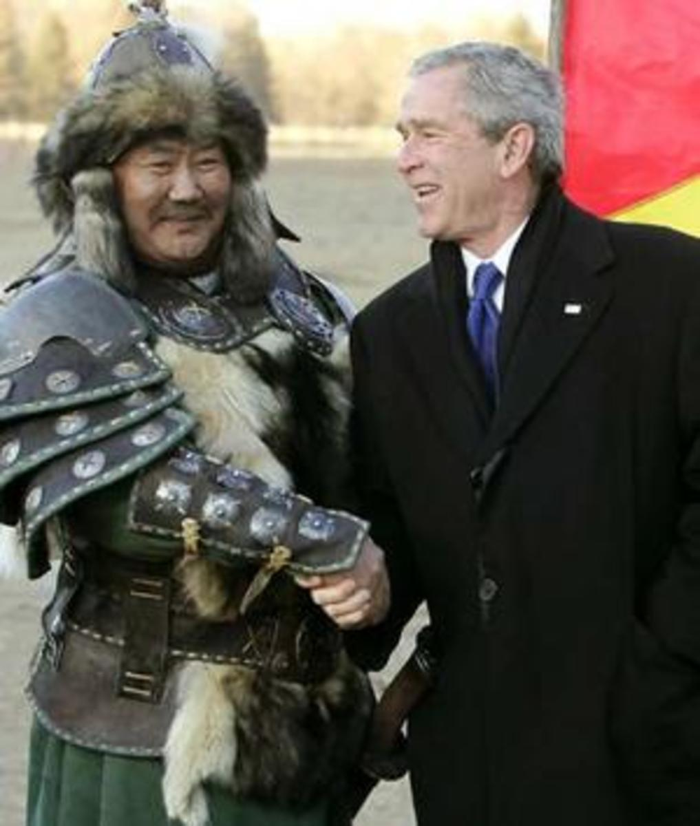 Genghis Khan and George Bush