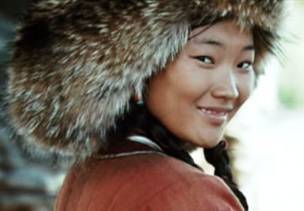 "Khulan Chuluun who played the role of Genghis' wife, Borte, in the movie, ""Mongol"""