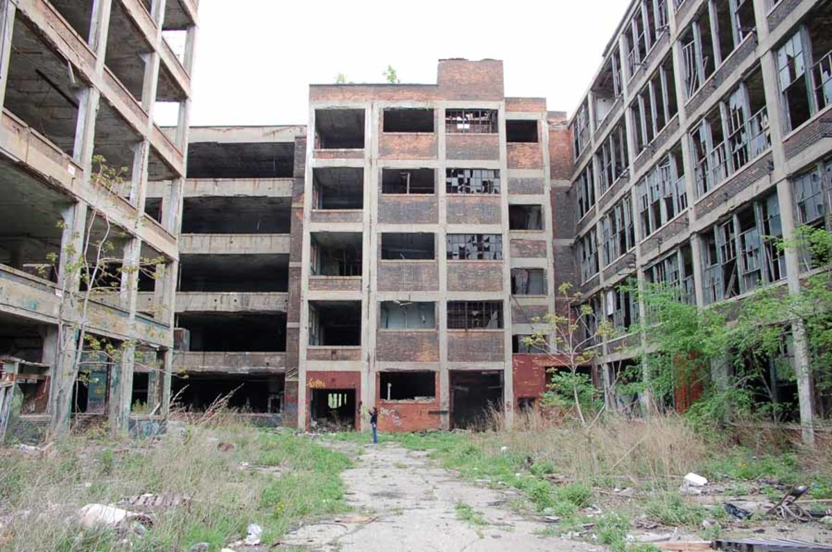 WHAT IS LEFT OF DETROIT MICHIGAN
