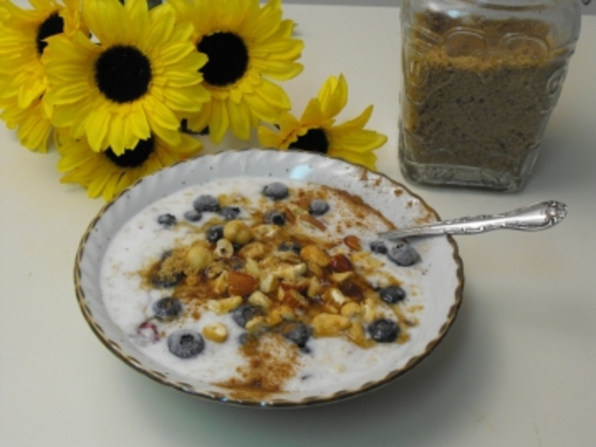 Blueberry Cinnamon-Nut Oatmeal...delicious flavor and good nutrition!