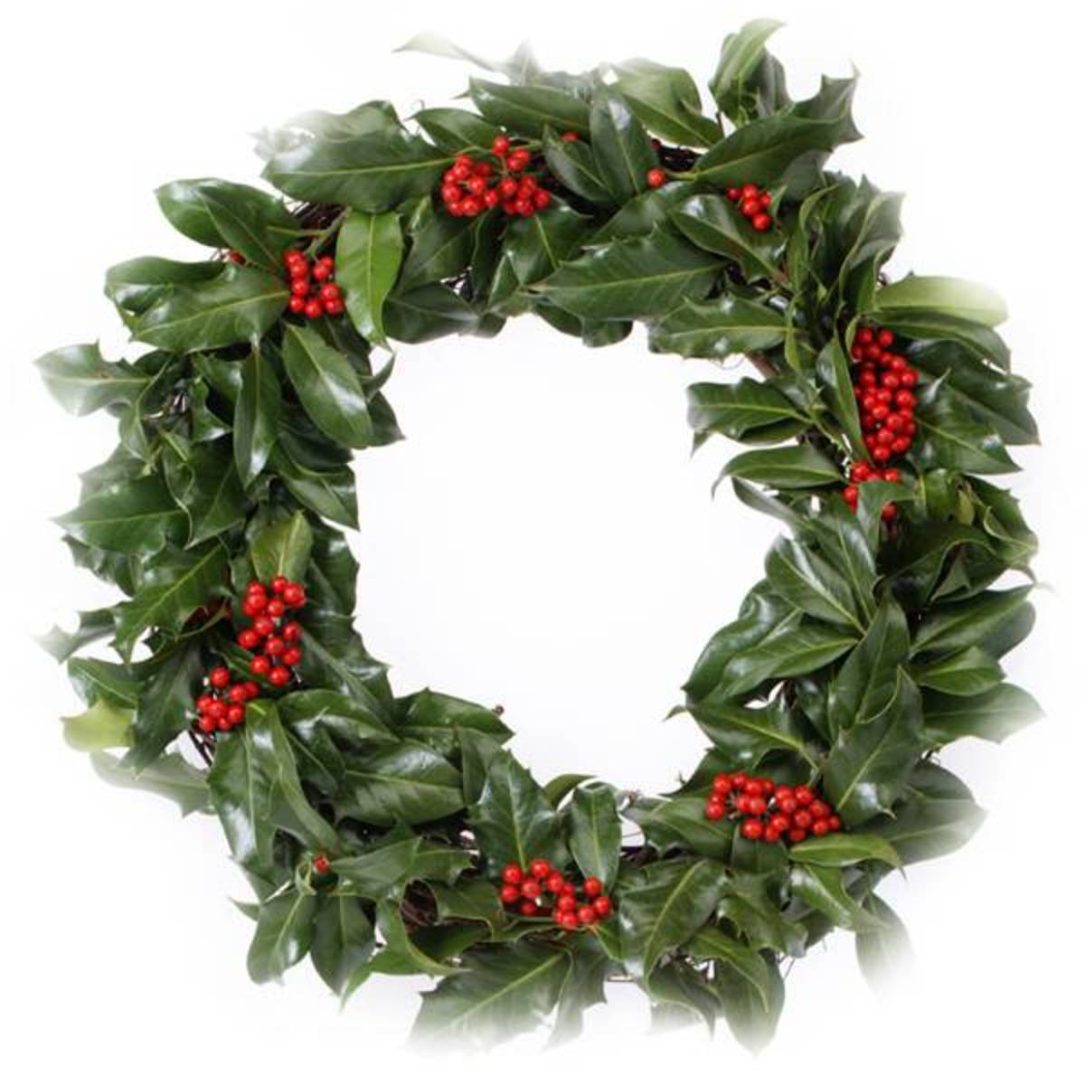Holly Wreath Photo Source: http://www.bigbunch.co.uk/images