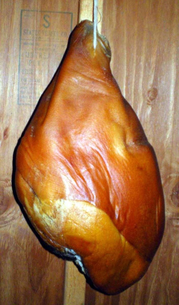 one country-cured ham