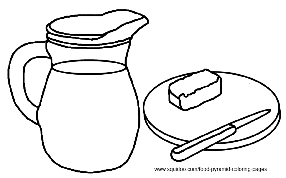 dairy food coloring pages