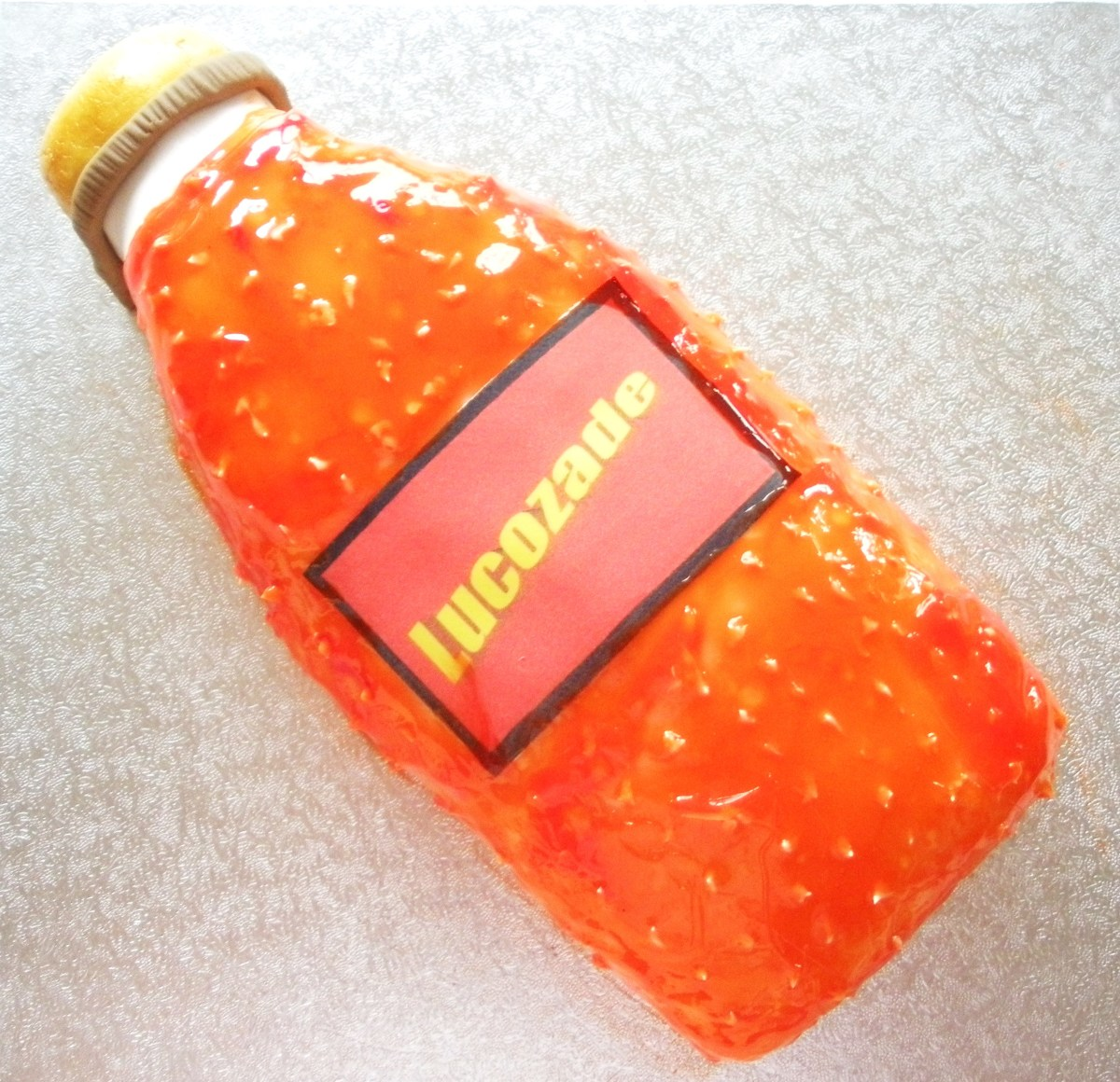 Old Fashioned Lucozade Bottle Cake
