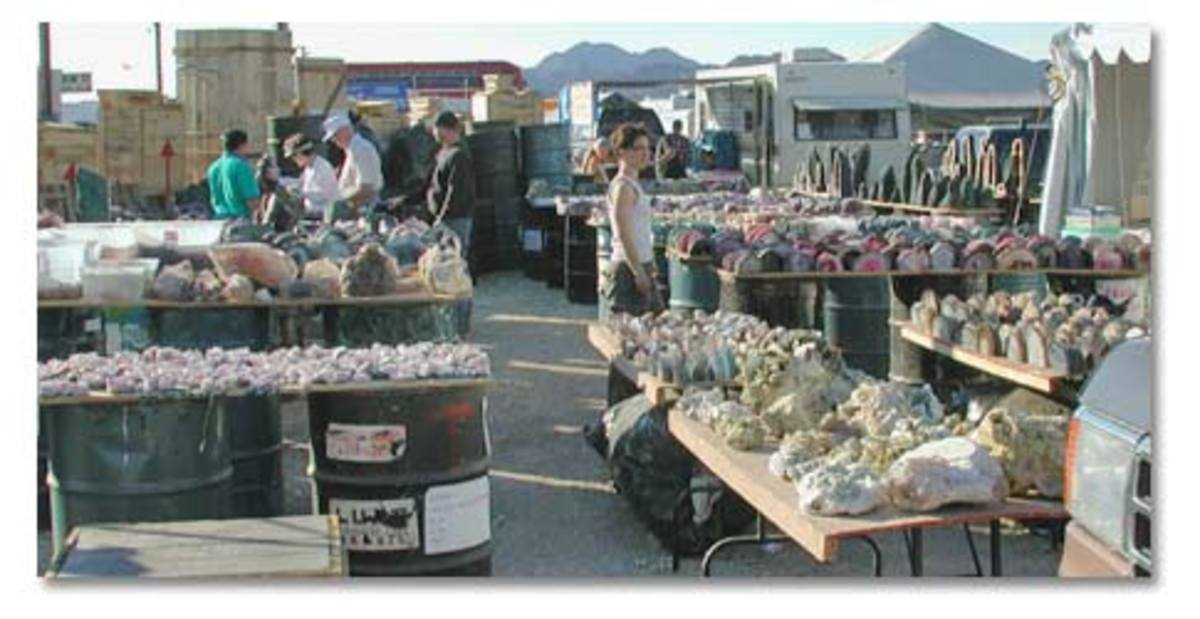 Quartzsite Gem and Mineral show