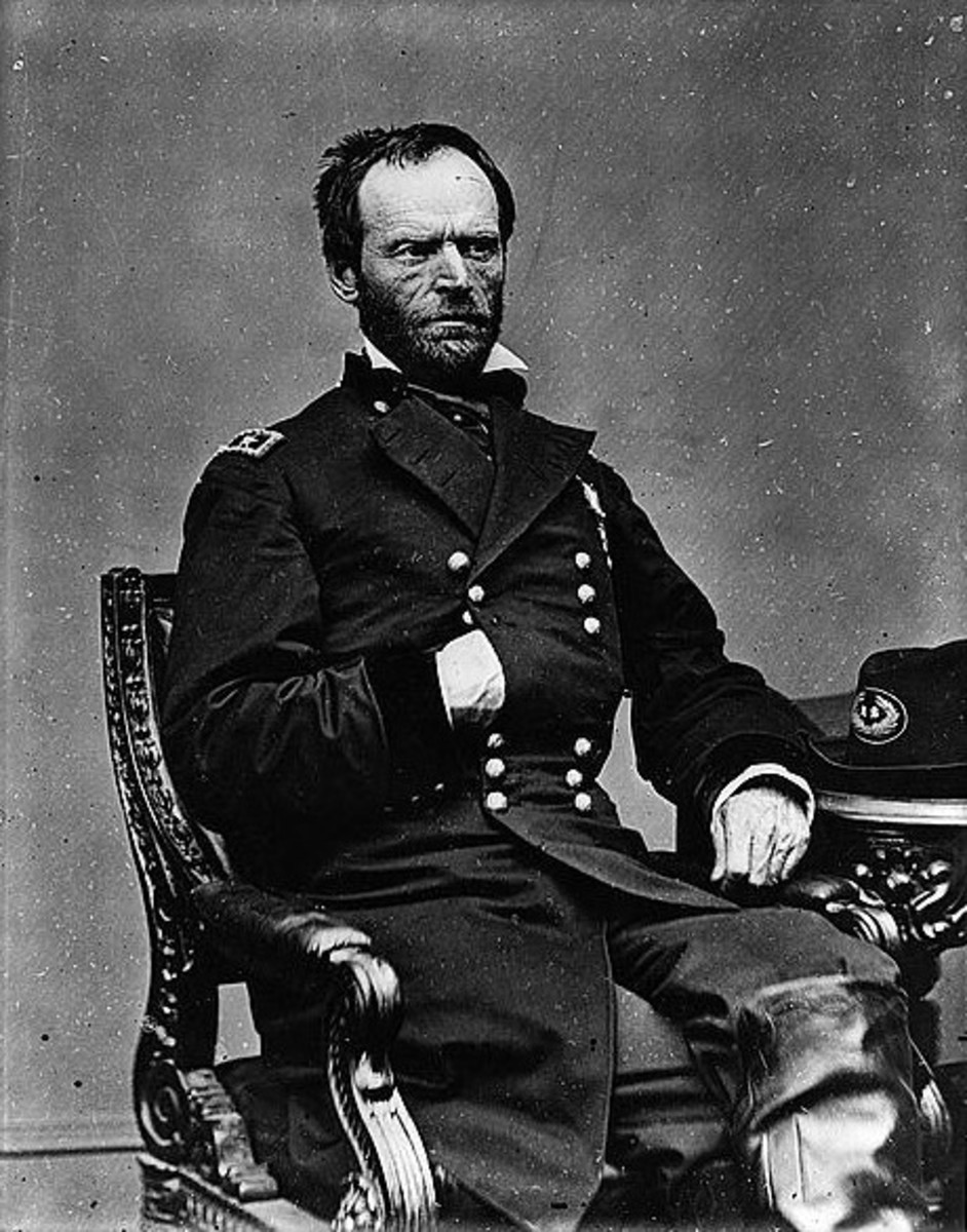 Photograph of Union General William Tecumseh Sherman. [Between 1861 and 1865].