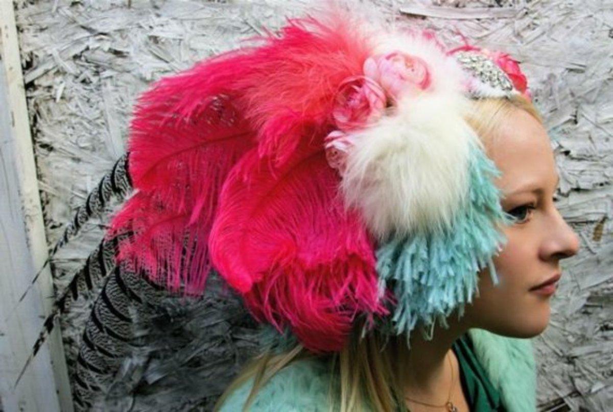 Tribal headdress not for the shy bride