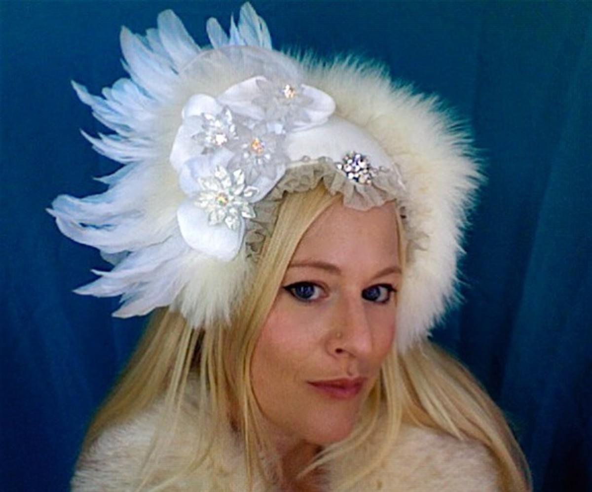 Glamorous tribal headdress that reminds me of Alphonse Mucha Artwork