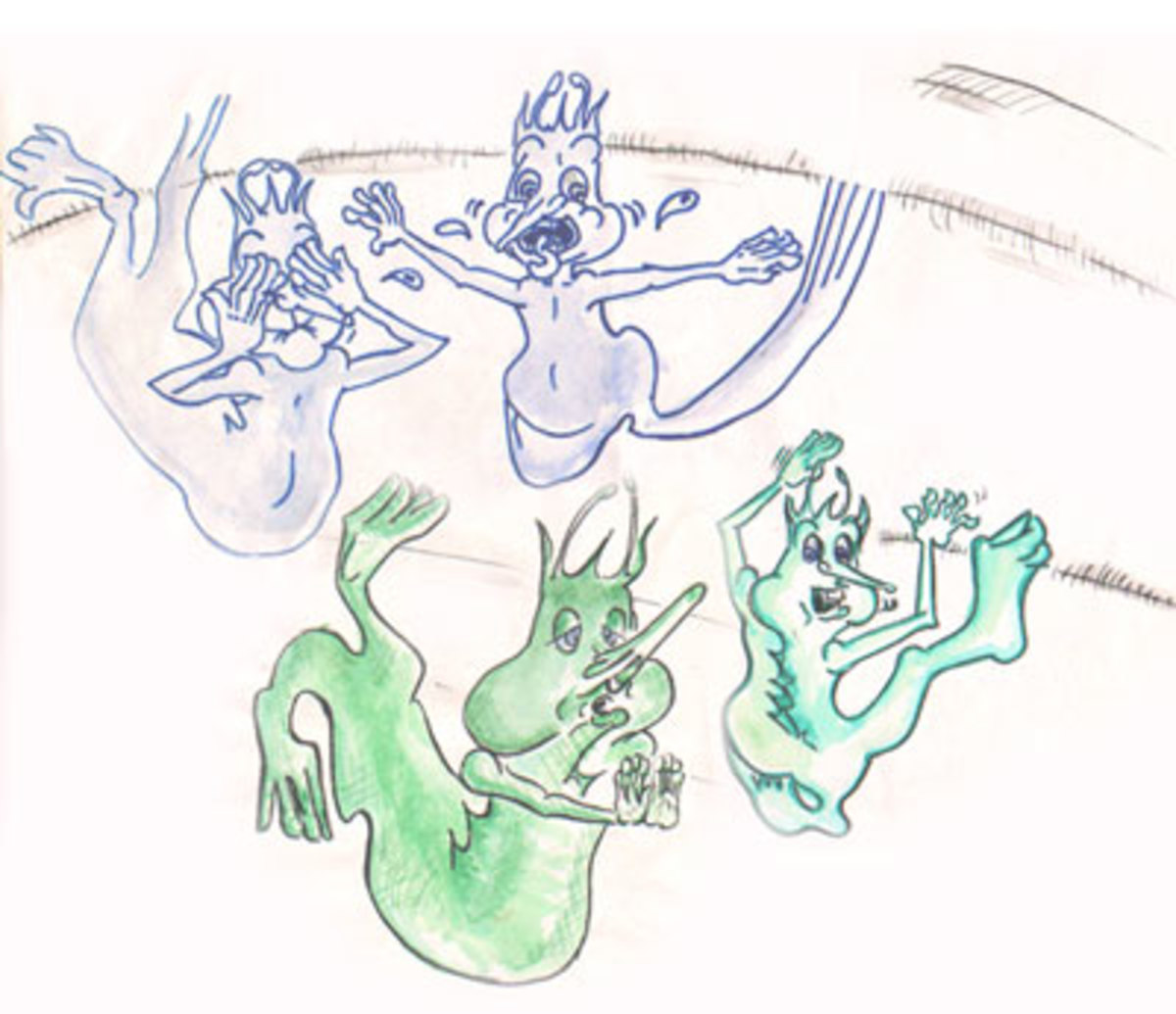 Character Design for Harpic Commercials