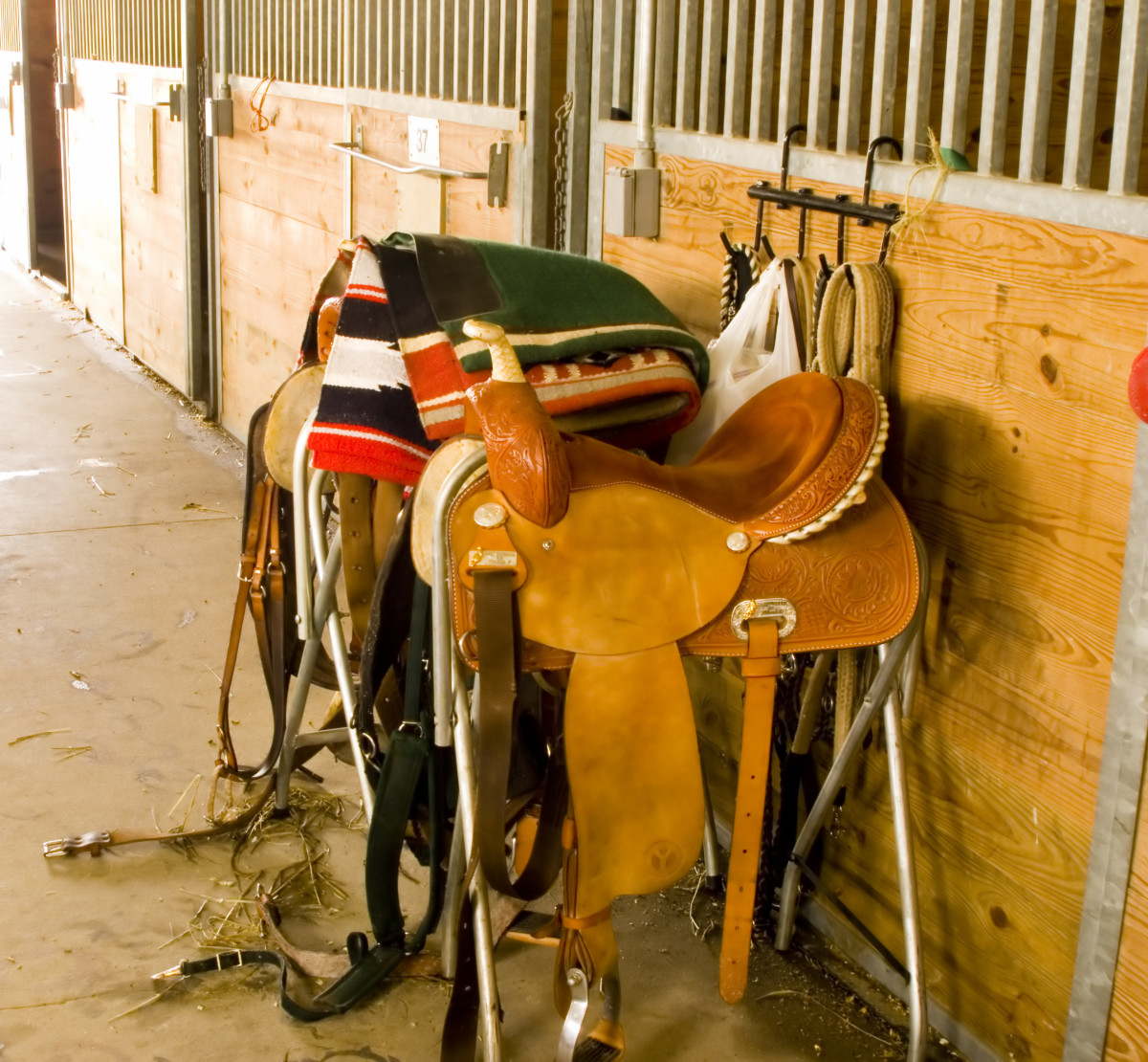 There are numerous types of Western saddles.