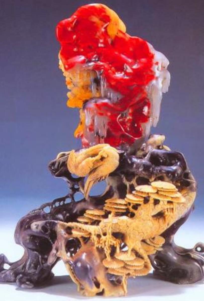 Bloodstone Display with Crane